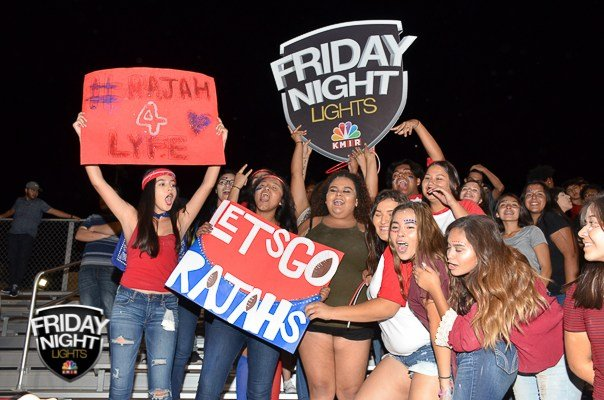Indio student's cheer on there Rahjas in Coachella.