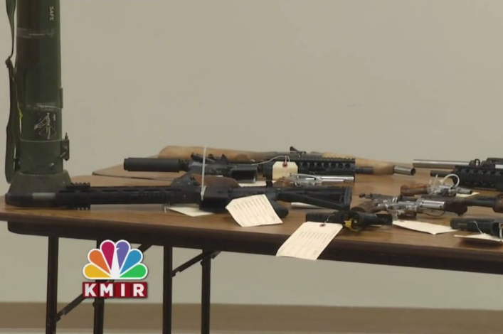 """Weapons seized during """"Operation Desert Impact"""""""