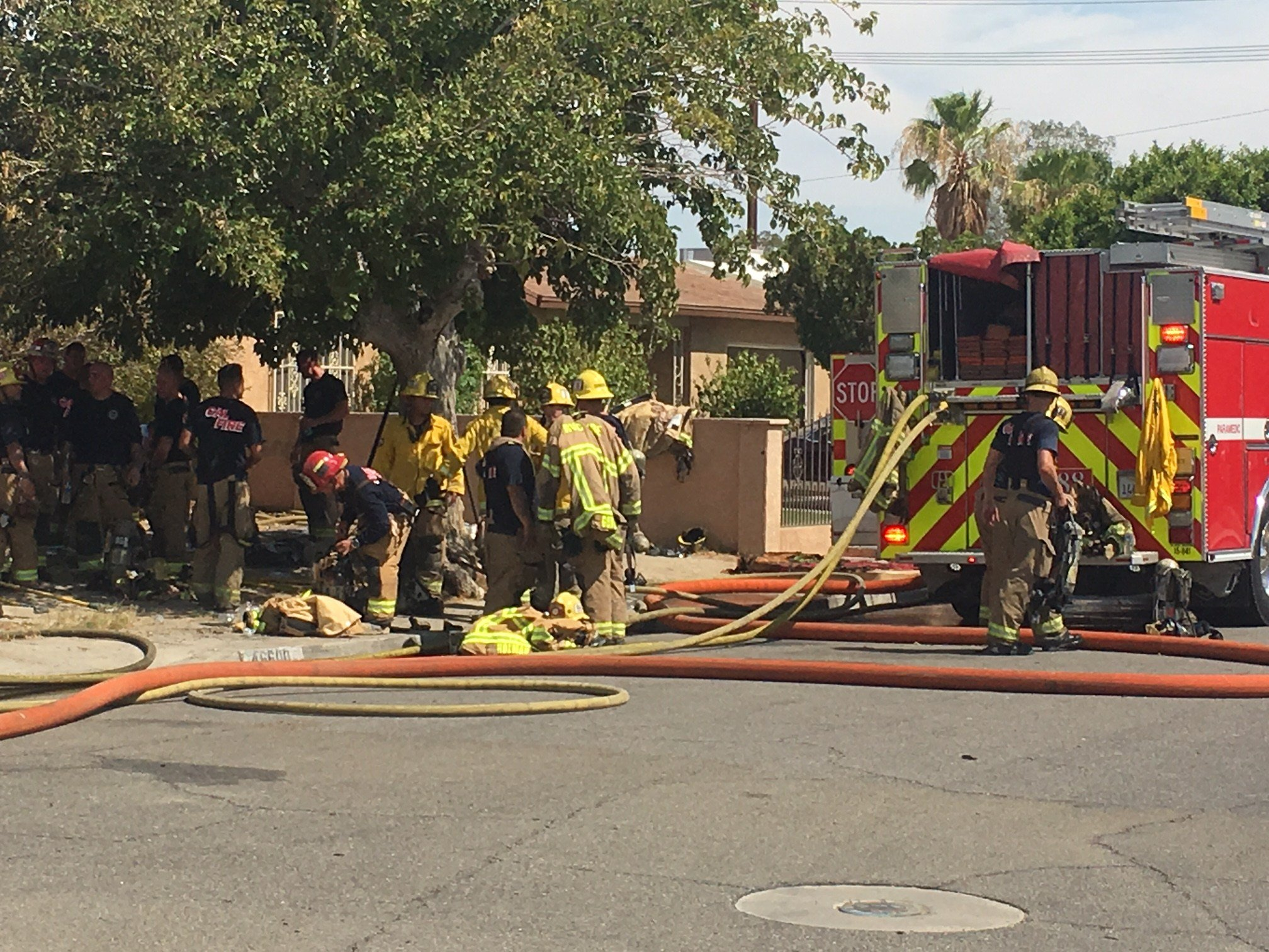 More than 3 dozen firefighters responded to the vacant home to battle the fire.