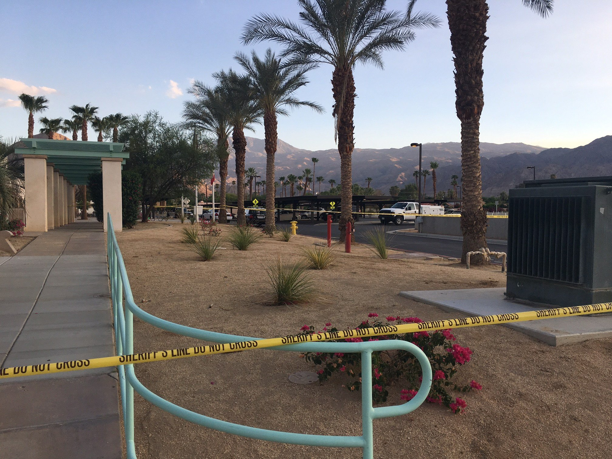 The La Quinta Library was put on lockdown immediatly following the incident.