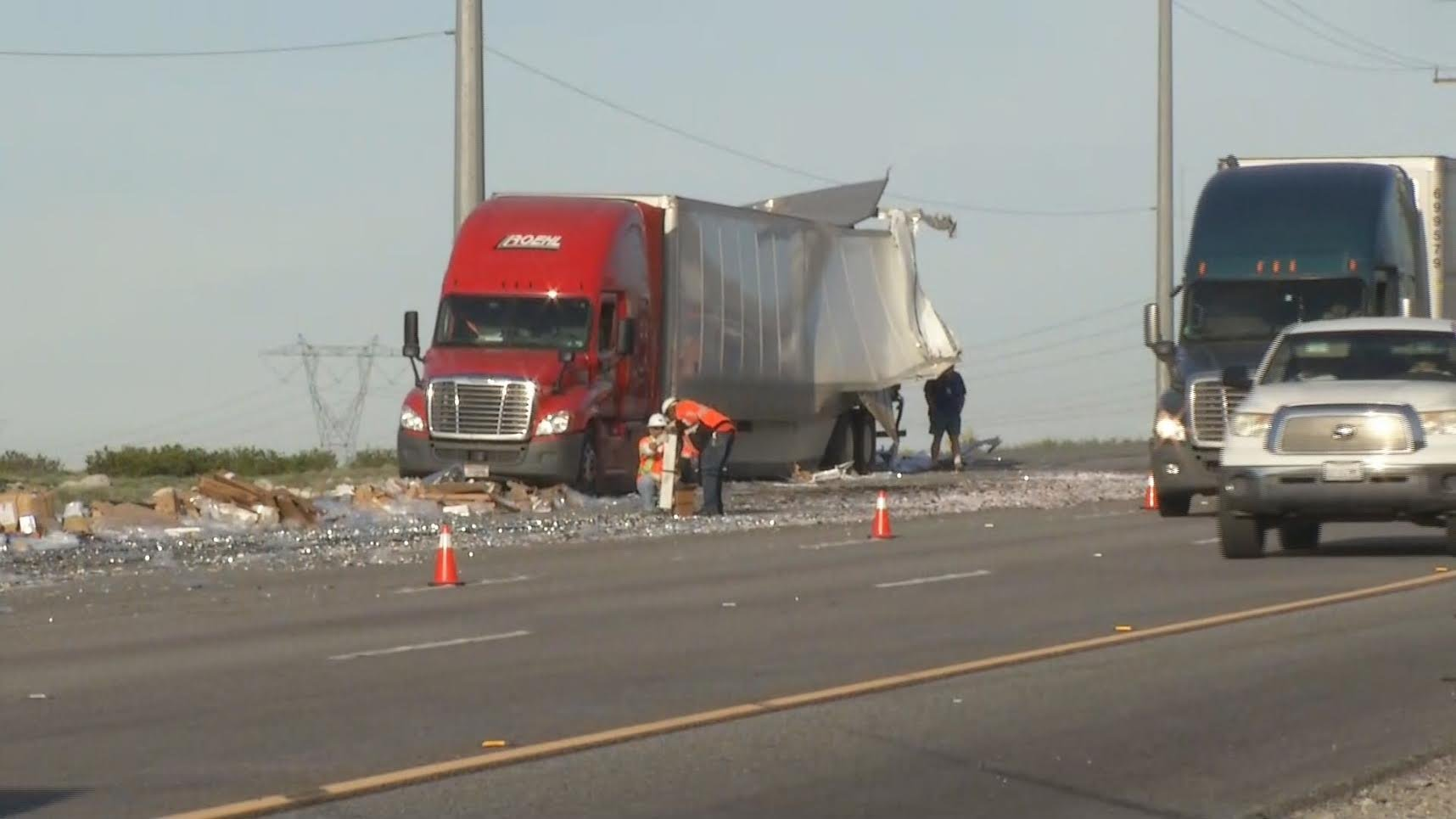 Two Big Rigs Collide In Whitewater - Palm Springs News ...