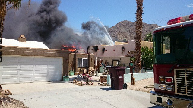 Person Hospitalized As Home Burns in La Quinta Cove - Palm ...
